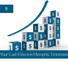 9. Your Cash Flow is in Memphis, Tennessee