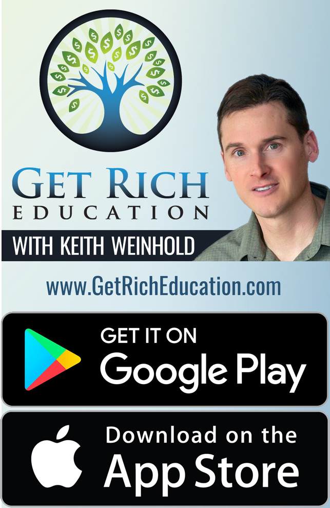 Get Rich Education Real Estate Investing Podcast with Keith Weinhold Promo