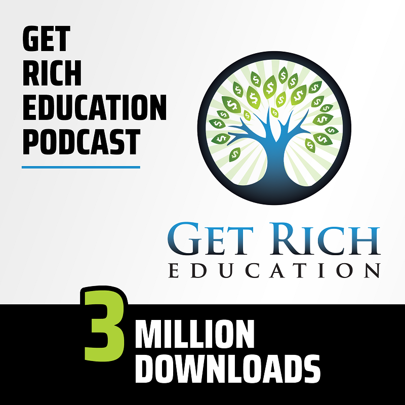 3M Downloads - Get Rich Education Podcast